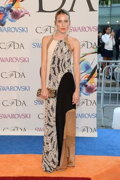 Dree Hemingway is #SoDVF wearing a Pre-Fall 2014 maxi dress