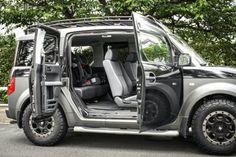 街乗りを考慮してラージSUVから、個性派コンパクトSUVに乗り換え。(HONDA/'03 ELEMENT) | アウトドアファッションのGO OUT Honda Element, Suv Trucks, Minivan, Future Car, Cherokee, Mtb, Dream Cars, Toyota, Gypsy