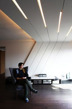 ceiling treatment AnLstudio is part of Ceiling design modern - Office Ceiling Design, Bedroom False Ceiling Design, Ceiling Light Design, Ceiling Decor, Office Interior Design, Office Interiors, Modern Ceiling Design, Interior Ceiling Design, Office Ceiling Light