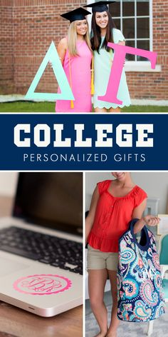 Head back to school in style with these must-have, personalized college school supplies and gifts like quilted laundry tote bags, vinyl laptop decals, car decals, sorority Greek letters, monogrammed sweaters, and more. To see these and more, visit http://www.tippytoad.com/back-to-school.asp