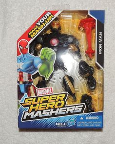 Marvel Avengers Super Hero Mashers SUPER SPIN Spider-Man Action Figure Giocattolo Nuovo