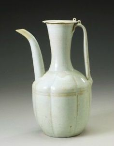 A 'Qingbai' lobed ewer and cover, Northern Song dynasty.