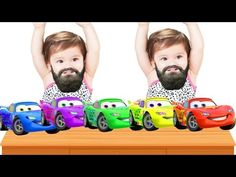 Bad Baby Crying And Learn Colors with McQueen Car & Spider - Finger Family Song - YouTube