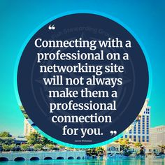 Connecting with a professional on a networking site will not always make them a professional connection for you. Consider practicing some solid vetting and due diligence with those that spend most of their time spotlighting the number of people they are connected to instead of highlighting their authority, authenticity and expertise. #networking #onlinenetworking #quotes #professionalnetworking #b2b #networkingevents #authority #authenticity #popularity #story #lorenweisman #quotes Professional Networking, Diligence, It Network, Authenticity, Connection, Author, Messages, Number, Quotes