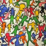 KeithHaringDanceParty5I - this looks like a great idea for a Haring lesson, amp it up to Grade 8/social issues?