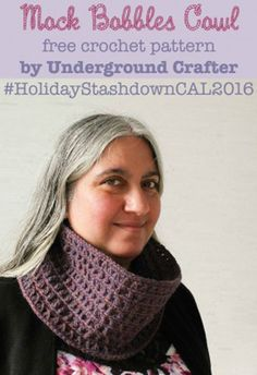 Mock Bobbles Cowl by Marie of Underground Crafter | Featured on @beckastreasures Saturday Link Party with @UCrafter and @2CrochetHooks!