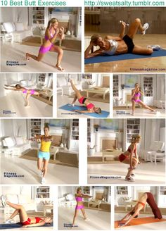 butt exercises:  even if you have a big butt you still need to tone it.