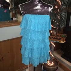 REDUCED TODAY $25🆕Victoria's Secret Cover Up Beautiful in blue this layered in ruffled Victoria's Secret Cover Up Victoria's Secret Swim Coverups