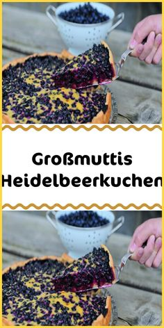 Großmuttis Heidelbeerkuchen Grandmother's blueberry pie is simply second to none! A thin dough base with lots of blueberries and a delicious icing – the cake is a real summer highlight. Healthy Thanksgiving Recipes, Thanksgiving Desserts, Healthy Dessert Recipes, Appetizer Recipes, Best Pumpkin Pie Recipe, Easy Pumpkin Pie, Vegan Pumpkin Pie, Quiche, Halloween