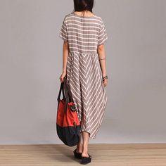 Loose Fitting Long Maxi Dress  Summer Dress   Short by deboy2000