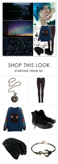 """Somewhere In The Darkness"" by fallen000 ❤ liked on Polyvore featuring Paige Denim and Converse"