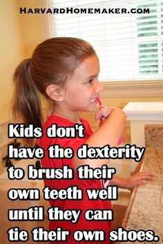 My doctor gave me this tip once:  until your children can demonstrate to you that they can tie their own shoes, they're not ready to brush their own teeth.    Kids simply don't have the dexterity yet to hit every tooth surface properly until they're able to tie their shoes, and who wants to deal with cavities being filled as a result of poor dental care?