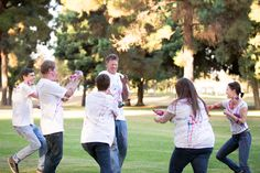 Family Photography. Family Paint War. OPERATION: GET DAD! Heartwell Park Long Beach California.