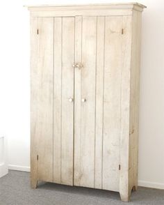 USA  1870-1880  19thc original white painted two door cupboard with original hardware great washed interior.wonderful original patina found in pennsylvania circa 1870-1880  Dimensions  Height: 6 ft. 6 in.  Width/Length: 4 ft.  Depth: 1 ft. 5 in.