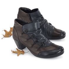 Tri-Color Button Boots by Rieker® - NorthStyle Women's Fashions