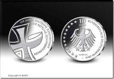 Silbermünze zu 150 Jahre Gesellschaft zur Rettung Schiffbrüchiger 2015. Fotograf: Hans- Jürgen Fuchs, Stuttgart
