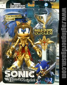 Sonic and the Black Knight Figures Sonic Excalibur Sonic by Sonic Birthday Parties, Sonic Party, Sonic Figures, Action Figures, Sonic Costume, Toy Cars For Kids, Lego Star Wars, Star Trek, Sonic Fan Characters