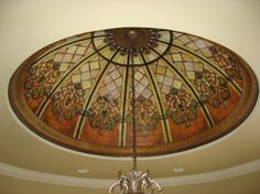 trompe l'oeil stain glass ceiling   by Kathy Bailey