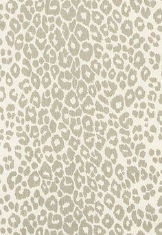 Iconic Leopard Schumacher Fabric - want! In wallpaper too.