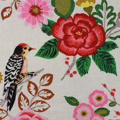 Birds in Bloom - Mosaic, Inc. : This beautiful linen has exquisite detail and could be perfect for a bridal occasion or a private party.