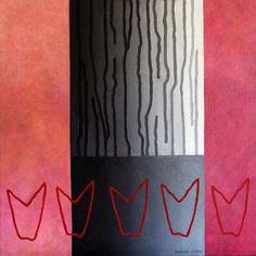 Striped tree, pink- read