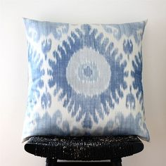 ikat silk cushion cover by be still