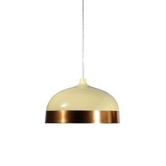 Glaze Pendant - Cream & Copper