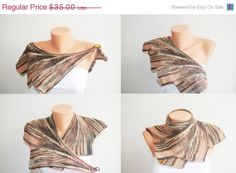 ON SALE Special Wingspan Shawl Brown colorful  by NesrinArt, $29.75