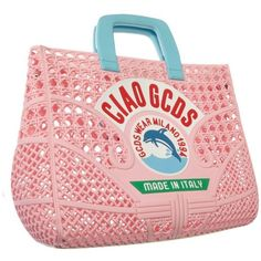 CIAO BAG, just our new masterpiece, perfect to carry your beach stuff in it. Pink Plastic, Plastic Bags, Novelty Bags, Unique Handbags, Fabric Bags, Summer Bags, Casual Chic, Fashion Jewelry, Purses