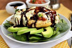 Avocado Mozzarella and Bruschetta Chicken via @Ann Brincks Girl Eats