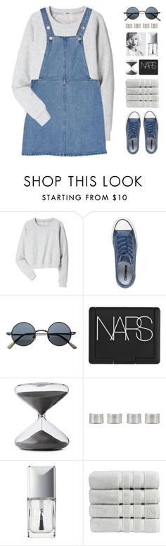"""""""it's time to bring a happy attitude (no. 1)"""" by via-m ❤ liked on Polyvore featuring Acne Studios, Monki, Converse, NARS Cosmetics, Timing, Maison Margiela, Christian Dior and Christy"""