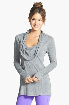 I have this Zella by Nordstrom 'All Shirred Up Too' Pullover and it is a dream! So comfie and flattering.