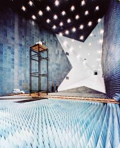 NASA anechoic chamber  Weird feeling, being in a chamber like this.