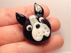 Glass Boston Terrier Pendant by Pokeypotamus on Etsy, $18.00
