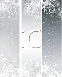 iCLIPART - Winter themed clip art banners with snowflakes and stars