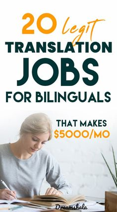 20 legit translation jobs for bilinguals. Extra Money Jobs, Make More Money, Make Money From Home, Earn Money, Big Money, Jobs From Home Legit, Online Work From Home, Online Job Opportunities, Best Money Making Apps