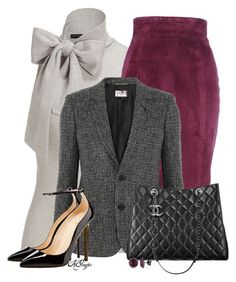 """""""Office Style"""" by kginger ❤ liked on Polyvore featuring Ralph Lauren, L'Wren Scott, Yves Saint Laurent, Chanel and Ice"""