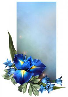 Flower Boarders, Flower Frame, Blue Background Wallpapers, Paper Background, Framed Wallpaper, Iphone Wallpaper, Molduras Vintage, Royal Pattern, Boarders And Frames