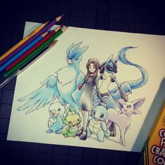 Dibujo de Pokémon / Pokemon drawing