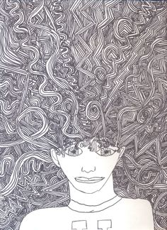 bad hair day drawing student