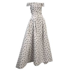 Pierre Balmain Couture by Oscar De la Renta Polka Dot Ball Gown  France