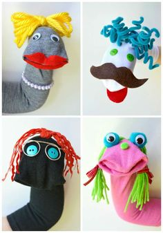 26 creative ways to recycle your old socks Upcycling, Recycling Source by weberspiesnicol Bible Crafts For Kids, Projects For Kids, Diy For Kids, Sock Puppets, Hand Puppets, Puppets For Kids, Puppet Crafts, Sock Toys, Ways To Recycle