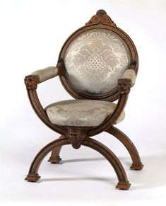 Chairs with an X-shaped frame have a long history. Illustrations survive of ancient Greek and Roman examples , 1873-1883.