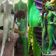 Dragon Costume by BreannaC STEP 3: Dye and Paint a Body Suit www.instructables.com/id/Dragon-Costume-1/?ALLSTEPS