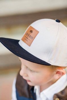 2383326522692 Stylish baby Original Gray Snapback Hat with leather patch for baby