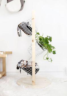 DIY: basket tower