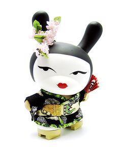 [Dunny Geisha blue]  acting KABUKI? cute :)