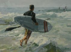 Paddle Boarder, by Cameron Smith Cameron Smith, Four Kids, Sea Art, Boarders, Source Of Inspiration, Great Love, Paddle, Boats, Painting