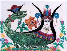 : The Snake Goddess was one of the Minoan divinities Snake Goddess, Outsider Art, Fantasy Girl, Sirens, Deities, Art Girl, Mythology, Mystic, Glass Art