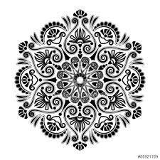 Resultado de imagem para mandala azul e branca